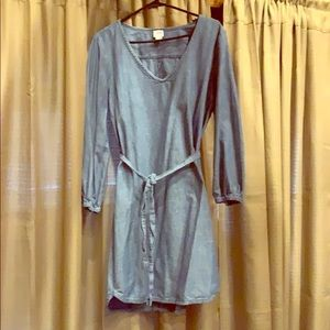 Versatile chambray shirt dress
